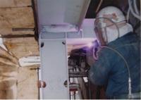 亜鉛・アルミニウム常温金属溶射作業